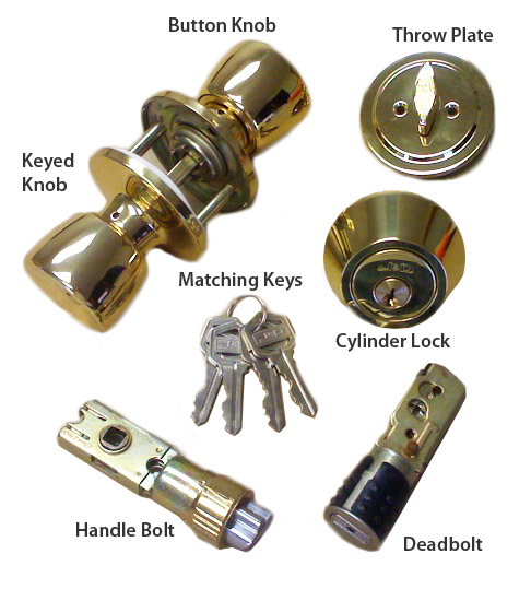 Brass Combination Door Lock Set For Mobile Home
