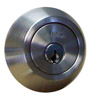 silver deadbolt manufactured