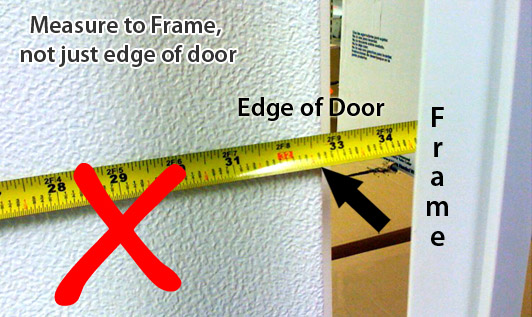 measure manufactured home door