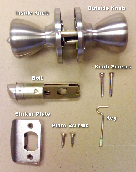 stainless steel silver door lock mobile home & Stainless Steel Privacy Door Lock Set for Mobile Home Manufactured ...