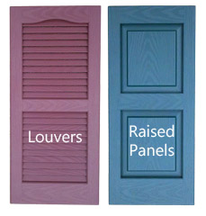 louver or raised panel vinyl shutters trailer