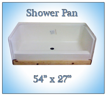 mobile home shower pan