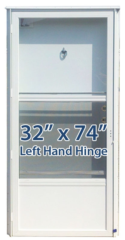 32x74 Aluminum Solid Door With Peephole Lh For Mobile Home