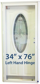 34x76 3 4 Oval Glass Door Lh For Mobile Home Manufactured