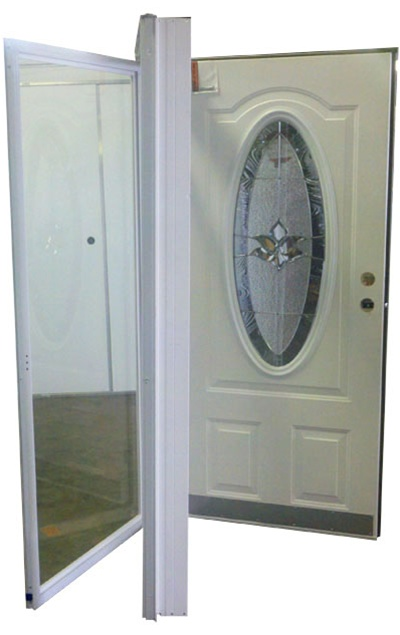 34x76 3 4 oval glass door rh for mobile home manufactured - Mobile home combination exterior doors ...