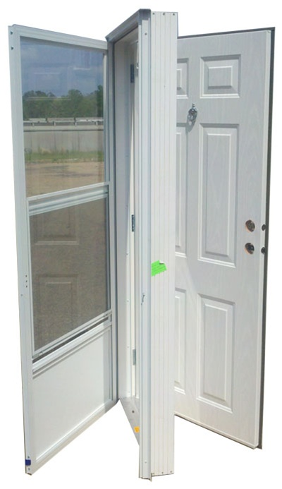 32x72 steel solid door with peephole rh for mobile home for Front door for mobile home
