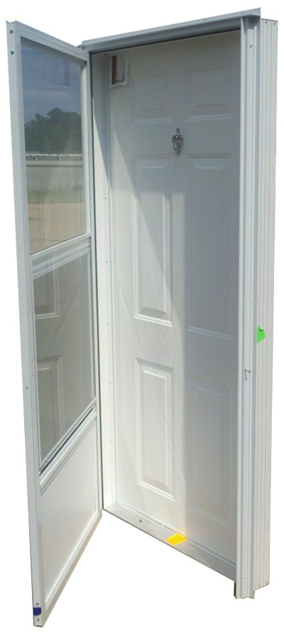 32x78 Steel Solid Door With Peephole Lh For Mobile Home
