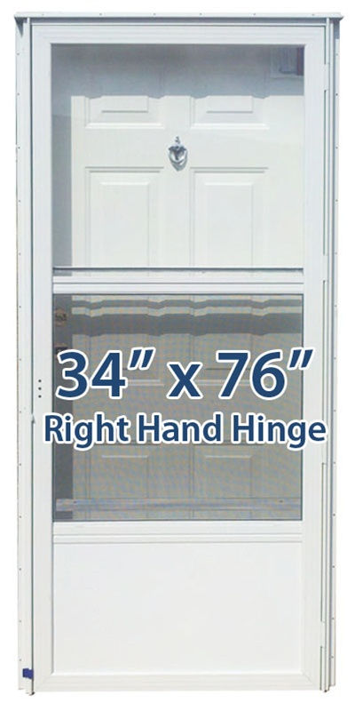 34x76 steel solid door with peephole rh for mobile home manufactured housing
