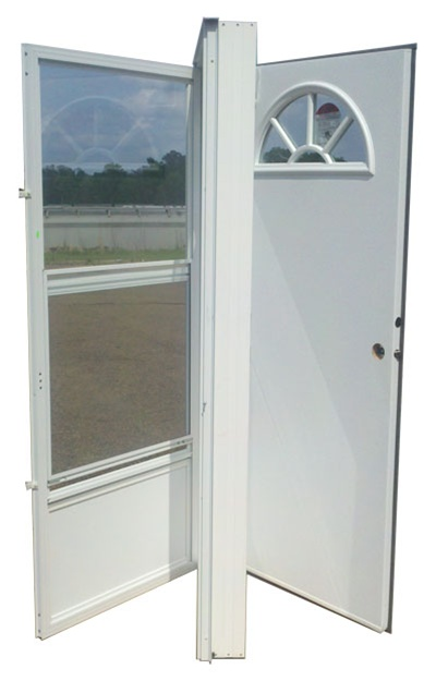 32x74 aluminum door fan window lh for mobile home - Mobile home combination exterior doors ...