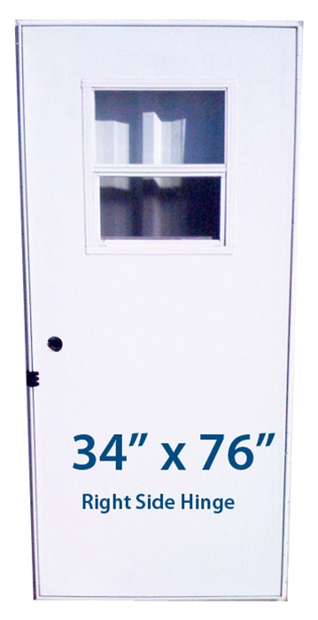 Mobile Home Slider Door 34x76 Rh Right Hand Hinge Doors