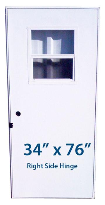 Mobile Home Slider Door 34x76 Rh Right Hand Hinge Doors