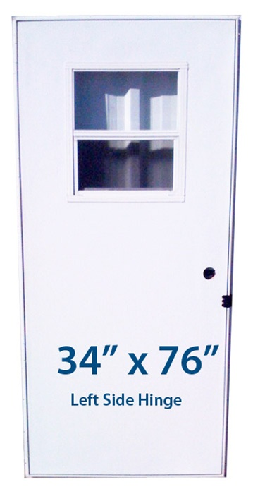 Mobile Home Slider Door 34x76 Lh Left Hand Hinge Doors