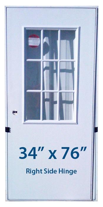 Mobile Home Cottage Door 34x76 Rh Right Hand Hinge Doors With Window
