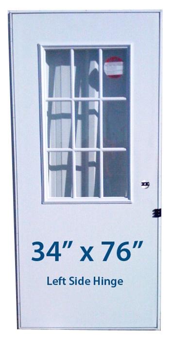 Mobile Home Cottage Door 34x76 Lh Left Hand Hinge Doors With Window