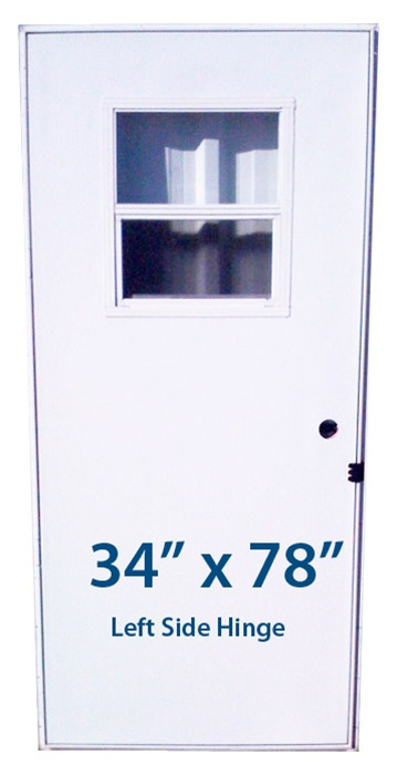 Mobile Home Slider Door 34x78 Lh Left Hand Hinge Doors