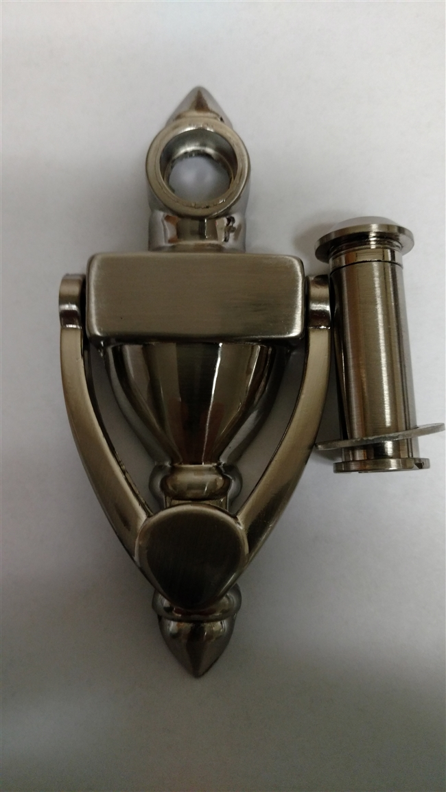 Chrome door knocker viewer for mobile home manufactured for Door knockers