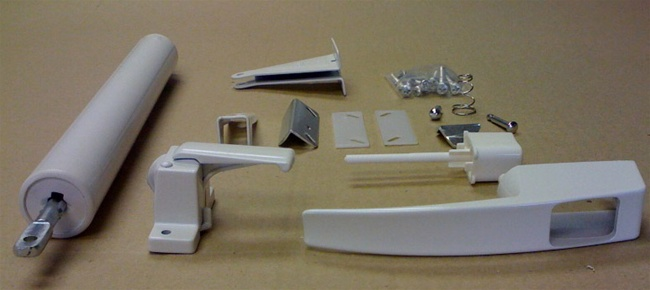 White Storm Door Hardware Set For Mobile Home Manufactured