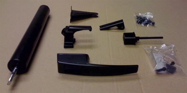 Black Storm Door Hardware Set For Mobile Home Manufactured