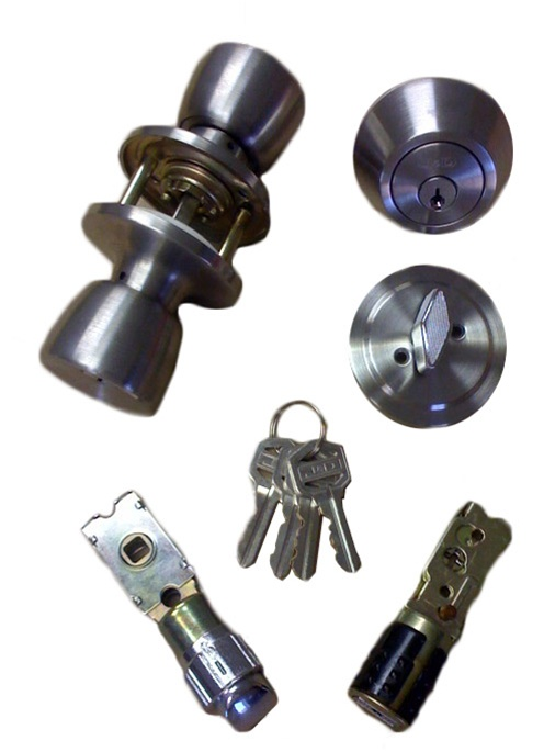 Stainless Steel Combination Door Lock Set For Mobile Home