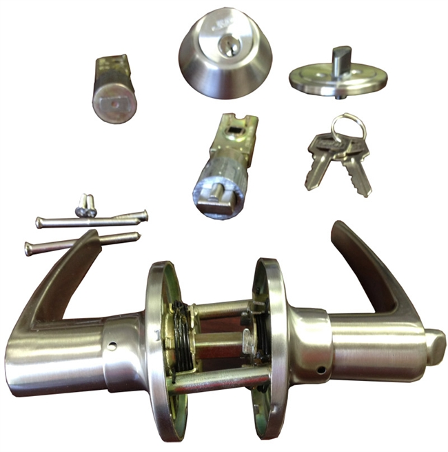 Mobile Home Exterior Door Hinges: Stainless Steel Combination Lever Lock Set For Mobile Home