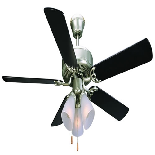 Homestead 52 downrod ceiling fans satin nickel aloadofball Choice Image