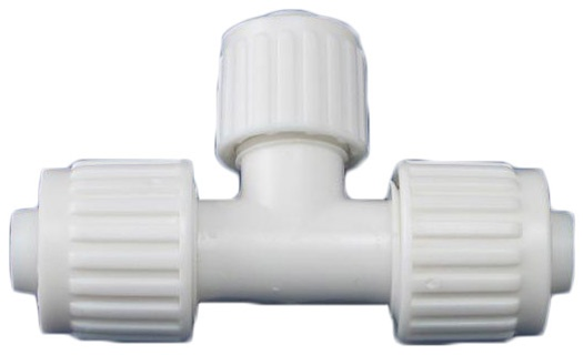 """1/2"""" X 1/2"""" X 3/8"""" Tee Compression Fitting Flair-It"""