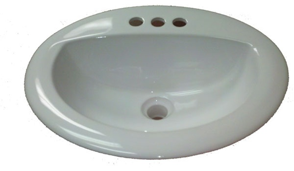 Home Manufactured Housing 17 quot  x 20 quot  Oval White Ceramic Sink. 17 quot  x 20 quot  Oval White Ceramic Sink for Mobile Home Manufactured Housing