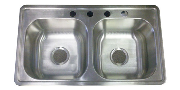 "33""x19"" Stainless Steel Kitchen Sink 8"" D for Mobile Home ..."