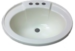"17"" x 20"" Oval Bone Plastic Sink for Mobile Home Manufactured Housing"