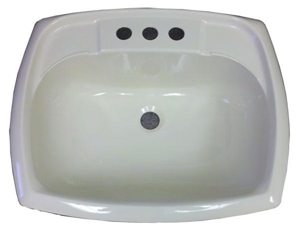 "Bathroom Sinks For Mobile Homes x 20"" rectangle bone plastic sink for mobile home manufactured housing"