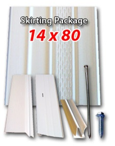 14 X80 Mobile Home http://www.completemobilehomesupply.com/Vinyl_Skirting_Package_14x80_Mobile_Home_p/skirting108.htm