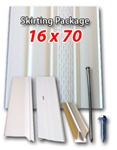 Complete vinyl skirting packages for any size mobile home for Home hardware house packages