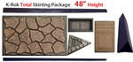 "K-Rok Entire House Skirting Package - 48"" Total"