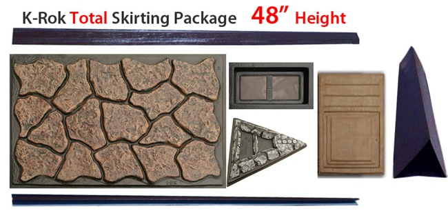 K Rok Entire House Skirting Package 48 Quot Total For Mobile