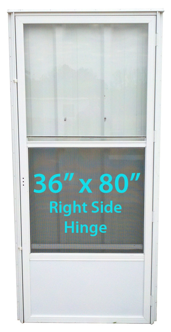 Mobile Home Standard Storm Door 36x80 Rh White With Screen