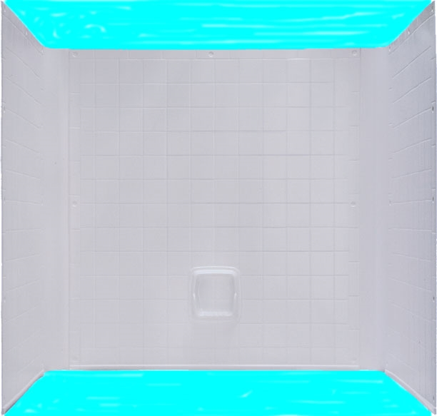 54x27 One Piece ABS Tile Tub Shower Surround