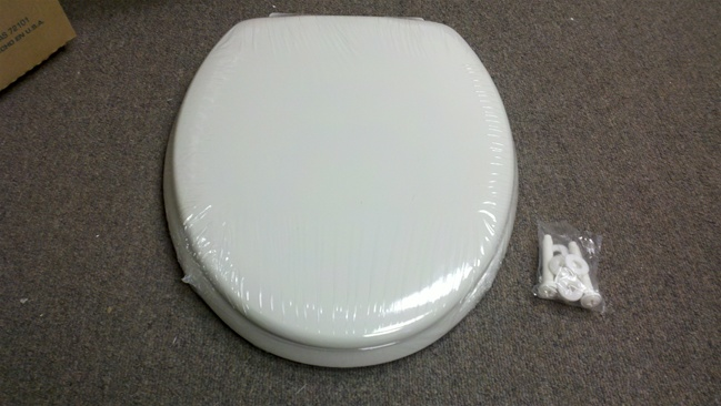 14 25 Quot X 18 5 Quot White Wood Toilet Seat For Mobile Home