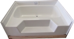 54x42 Fiberglass Replacement Garden Tub