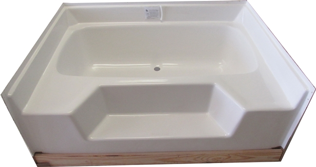 54x42 fiberglass replacement garden tub for Fiberglass garden tub
