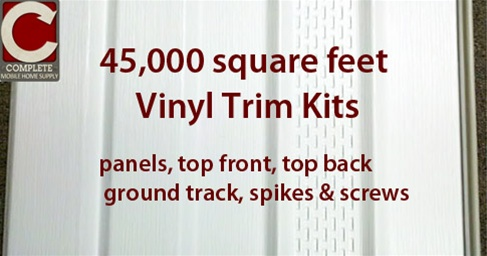 Custom Vinyl Skirting Materials 500 Homes