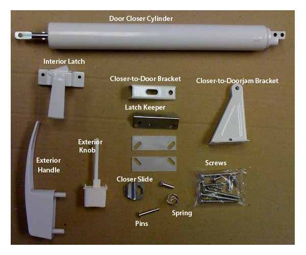 storm door closer handle hardware