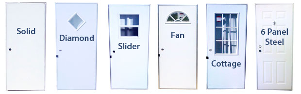 single entry trailer doors