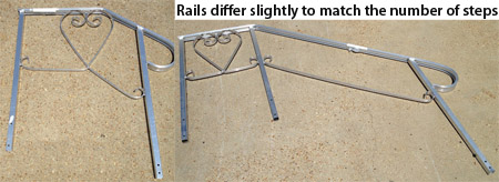 rails for fiberglass steps