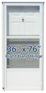 36x76 steel solid door with peephole rh for mobile home - Mobile home combination exterior doors ...