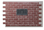 Red Mason's Brick vented panel