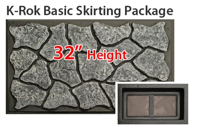 SKIRTING125-2T Complete Mobile Home Skirting Packages on complete modular home packages, mobile home underpinning materials, mobile home kitchen packages,