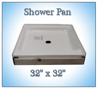 Shower Pan and Rivets plus Freight to SC