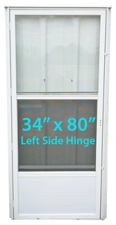 STORMDOOR09-2T Foldaway Screen Door For Mobile Home on