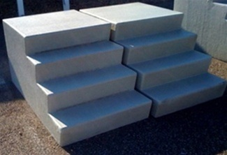 Portable Fiberglass Stairs 4 Steps For Mobile Homes