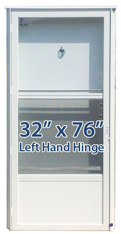 32x76 aluminum solid door with peephole lh for mobile home - Mobile home combination exterior doors ...
